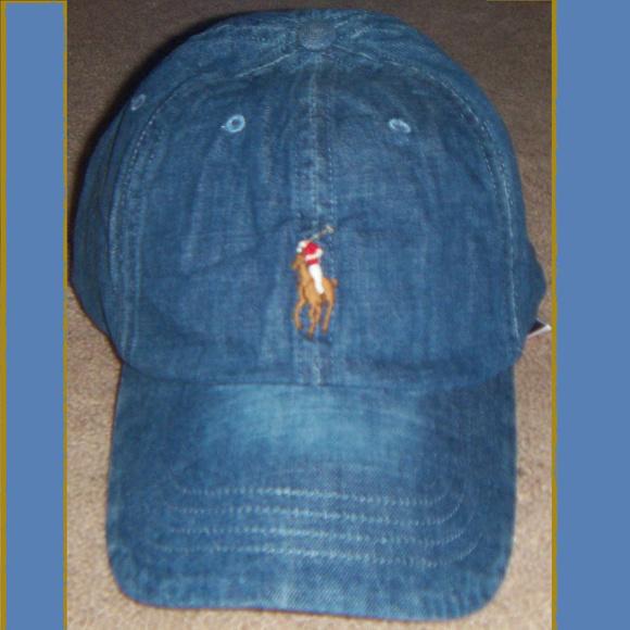 POLO Ralph Lauren Denim Cap Hat Adjustable 1 Size c765bfaea28